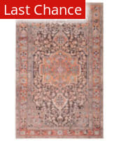 Rugstudio Sample Sale 217674R Orange - Dark Gray Area Rug