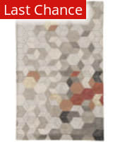 Rugstudio Sample Sale 186059R Light Gray - Orange Area Rug