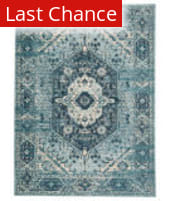 Rugstudio Sample Sale 204781R Blue - Cream Area Rug