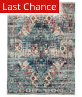 Rugstudio Sample Sale 204784R Multicolor - Blue Area Rug