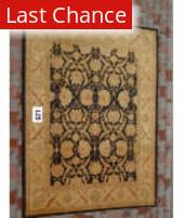 J. Aziz Peshawar Black-Gold 86973 8' x 10' 6'' Rug