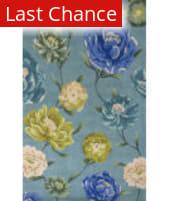 Rugstudio Sample Sale 110682R Blue Floral Oasis Area Rug