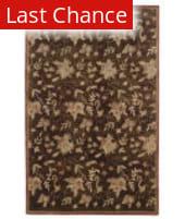 Linon Ashton Slsg40 Chocolate / Brick Area Rug