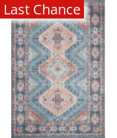Rugstudio Sample Sale 204596R Turquoise - Terracotta Area Rug