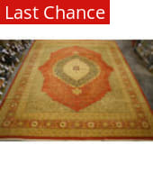 Org 16/18 Antiqued V-1675 Rust Area Rug