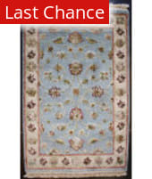 ORG Riviera El(s)-1 Light Blue - Ivory Area Rug