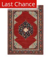 Rugstudio Sample Sale 215559R Red - Blue Area Rug