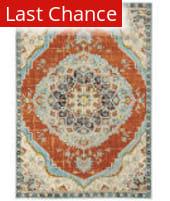 Rugstudio Sample Sale 205715R Orange - Blue Area Rug