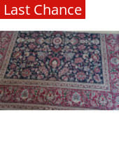 Rugstudio Sample Sale Kashan Navy - Red Area Rug