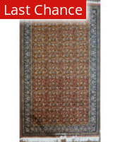 Rugstudio Sample Sale A.o. Floral Rust - Navy Area Rug