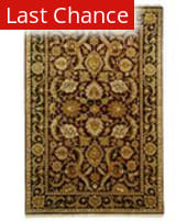 Rugstudio Sample Sale 49799R Burgundy / Black Area Rug