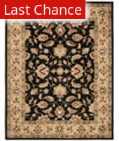 Rugstudio Sample Sale 46773R Black / Gold Area Rug