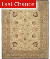 Rugstudio Sample Sale 80342R Ivory / Brown Area Rug