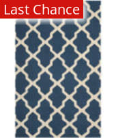 Rugstudio Sample Sale 80387R Navy Blue / Ivory Area Rug