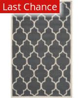 Rugstudio Sample Sale 111938R Dark Grey / Ivory Area Rug