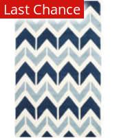 Rugstudio Sample Sale 155107R Dark Blue - Light Blue Area Rug