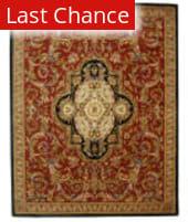 Rugstudio Sample Sale 49675R Red / Black Area Rug