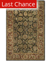 Rugstudio Sample Sale 49726R Dark Olive / Red Area Rug