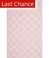 Rugstudio Sample Sale 100534R Pink / Ivory Area Rug