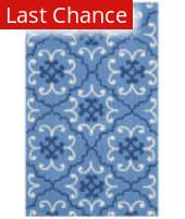Rugstudio Sample Sale 143357R Blue - Ivory Area Rug