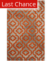 Rugstudio Sample Sale 143592R Light Grey - Orange Area Rug