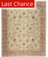 Rugstudio Sample Sale 64380R Beige/Dusty Rose Area Rug