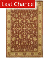 Rugstudio Sample Sale 22405R Red-Gold-Pink Blush Area Rug