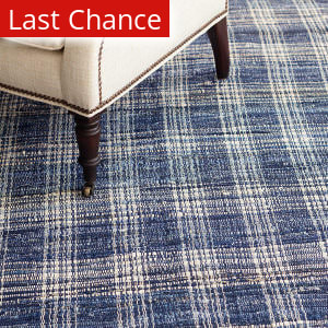 Blue Plaid Rug At Rug Studio