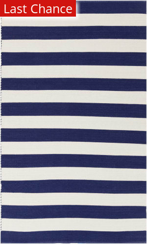 Navy And White Striped Rug At Rug Studio