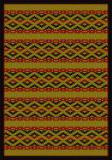 American Dakota New Echota Basket Weave Brown Area Rug