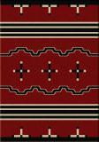 American Dakota Voices Big Chief Red Area Rug
