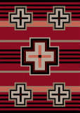 American Dakota Trader Rugs Bounty Red Area Rug