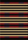 American Dakota Cabin Chief Stripe Red Area Rug