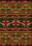 American Dakota Cabin Dakota Star Green Area Rug