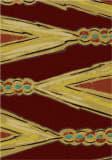 American Dakota New Echota Finger Weave Red Area Rug