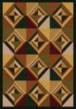 American Dakota Cabin Folk Lore Brown Area Rug