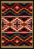 American Dakota Trader Rugs Rustic Cross Black Area Rug