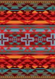 American Dakota Trader Rugs Rustic Cross Red Area Rug