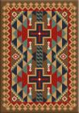 American Dakota Voices Tribesman Brown Area Rug