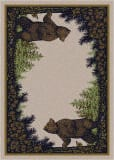 American Dakota National Park Twin Bears Green Area Rug