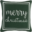Surya Holiday Pillow Merry Holi7262 Forest Green