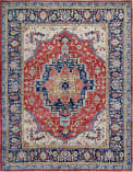Azad Oushak Moroccan  Red Multi Area Rug