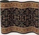 Couristan Royal Kashimar Ushak Black Deep Maple 8198-2596 Custom Length Runner
