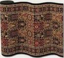 Couristan Royal Kashimar Antique Nain Black 8199-2599 Custom Length Runner