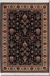 Couristan Kashimar Floral Herati Black-Teal 0600-3220 Custom Length Runner