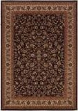 Couristan Everest Isfahan Black 3791-6025 Custom Length Runner