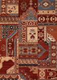 Couristan Timeless Treasures Kerman Mosaic Burgundy - Rust Area Rug