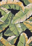 Couristan Covington Rainforest Forest - Green Black Area Rug