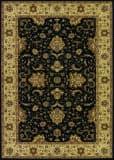 Couristan Izmir Floral Bijar Black Area Rug