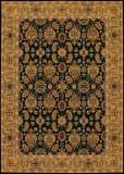 Couristan Royal Kashimar All Over Vase Black - Deep Maple Area Rug
